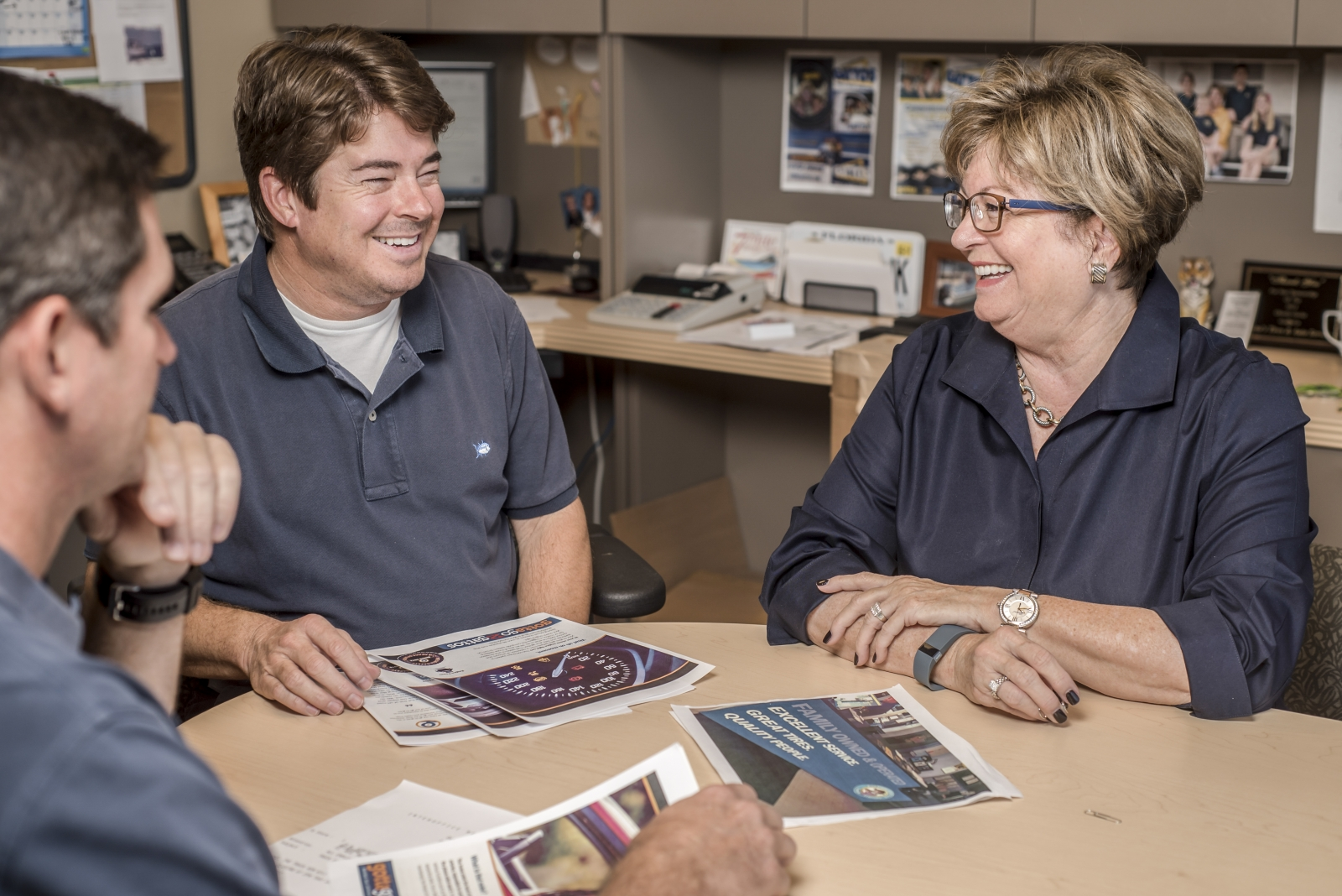 TRACKING PROFIT: Owner Pamela Gatto (right) begins each day by pulling reports, most importantly daily gross profit numbers, to go over with her managers.