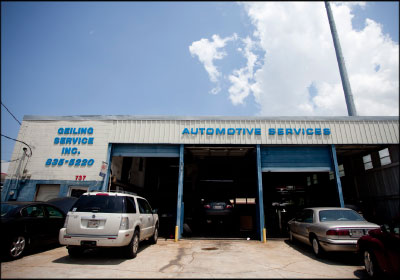A LONG TRADITION: Three generations of the Geiling family have worked at Geiling Auto Service since it opened in 1942. Current owner Steve Geiling was determined to carry on the family legacy after Hurricane Katrina.
