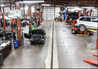 CORNERING THE MARKET: Warman says his shop has succesfully captured his region's BMW and MINI market and averages a one-day turnaround for 90 percent of customers.