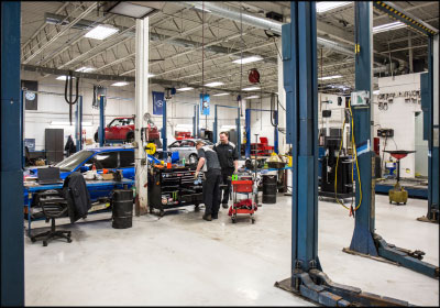 AN ORGANIZED SHOP: Reiners preaches routine, documentation and consistency in the shop. She frequently checks in with technicians throughout the day to go over estimates, check on repairs and ensure any issues are resolved smoothly.