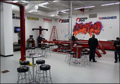 The service bays at the Garage Gurus facility in Skokie, Ill., are outfitted with the latest equipment and tools.