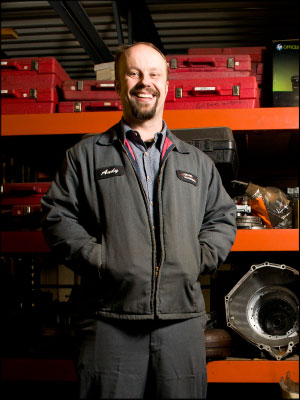 Andy Lundsted, owner Certified Transmission and Total Car Care, Stillwater, Minn. Photo by Stephen Geffre