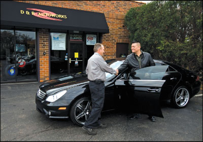 PART OF THE COMMUNITY: Buss didn't want to lose his shop's close connection to customers when D&R Auto Works moved to its new location. Photo courtesy D&R Auto Works
