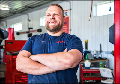 "A FRESH PERSPECTIVE: Doerner hired Wes Allison (above), who formerly worked with emotionally impaired children in Detroit, to manage and run His Hands Auto Care. Allison was instrumental in helping to create the ""1-for-1"" policy that helped the shop break even in its second year."