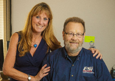 BACKUP PLAN: After a complicated motorcycle accident and recovery, Maylan Newton relied on his wife, Lauren, and his staff to run the company in his absence.
