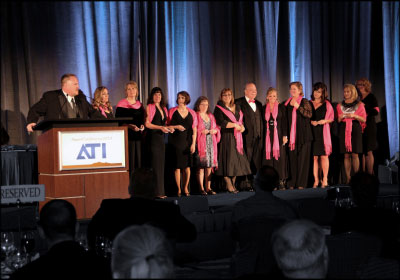 MAKING A SPLASH: The Leading Ladies group was recognized for its achievements at the Automotive Training Institute's 2013 SuperConference Awards Banquet in Scottsdale, Ariz. Photo courtesy Automotive Training Institute