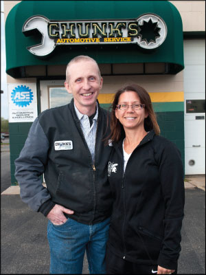 GIVING THANKS: Mike Personius and wife Julie give 100 percent of their shop's sales on Thanksgiving to a local charity.  Photo by Stephen Geffre