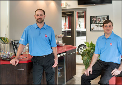 FINDING PURPOSE: Brothers Brian, left, and Chris Weeks overhauled their family's shop to jumpstart its profitability.