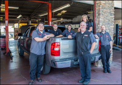 IN IT TOGETHER: Ted Curran's team at Monkey Wrenches shares a unified approach to putting the customer first.