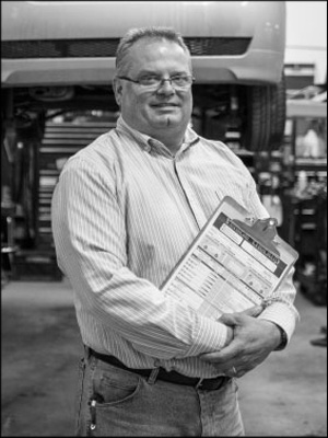 TIME IS MONEY: Bill Long of Auto Care Clinic Inc. says everything his shop does is focused on getting the most from the time his team has each day. Photo by Deanna Sackett